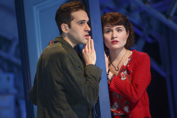 Adam Chanler-Berat and Phillipa Soo star in Amélie, directed by Pam MacKinnon, at Broadway's Walter Kerr Theatre.