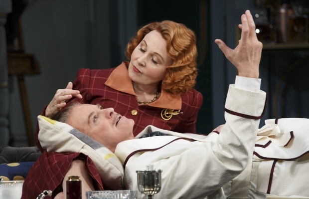 Kevin Kline and Kate Burton in a scene from Present Laughter.