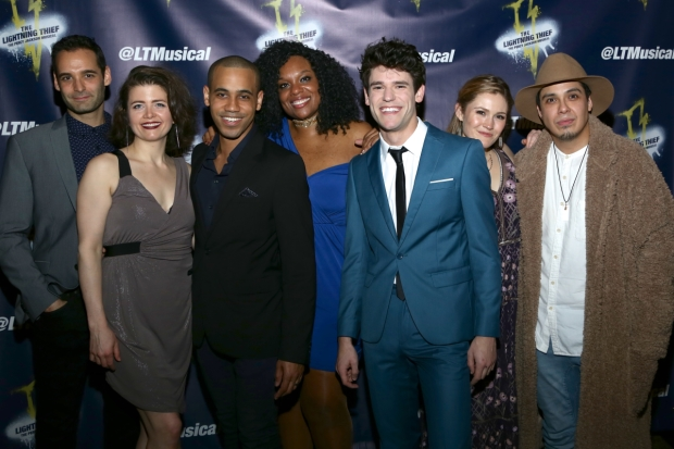 The cast of The Lightning Thief: The Percy Jackson Musical, directed by Joe Tracz, at the Lucille Lortel Theatre.