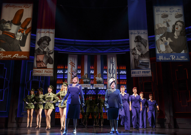 Christine Ebersoel and Patti LuPone star in War Paint, directed by Michael Greif, at the Nederlander Theatre.
