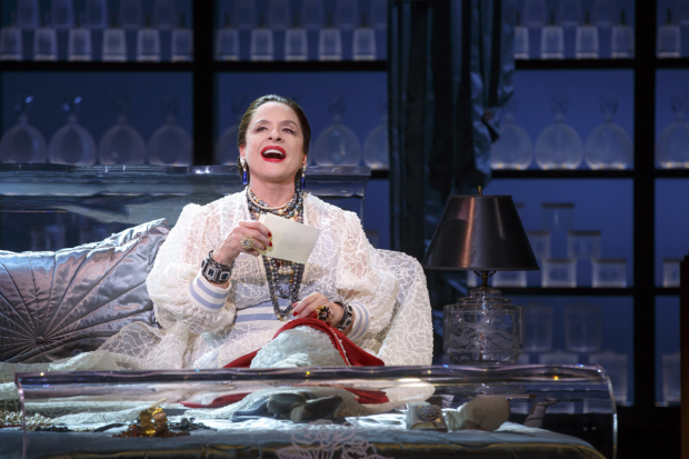 Patti LuPone plays Helena Rubinstein in War Paint on Broadway.
