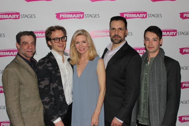 The cast of Primary Stages' Daniel's Husband, directed by Joe Brancato, at Cherry Lane Theatre.