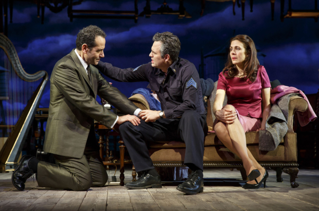 Tony Shalhoub, Mark Ruffalo, and Jessica Hecht in a scene from Roundabout Theatre Company's production of The Price.