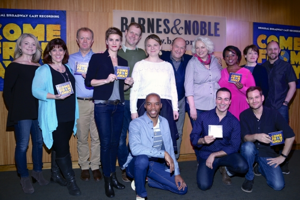 The company of Come From Away celebrates the release of their Cast Album with a signing at Barnes & Noble.
