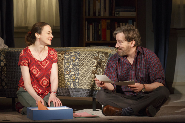 Maria Dizzia and Jeremy Shamos in Steven Levenson's If I Forget.