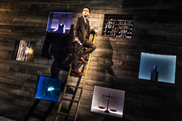 Derek DelGaudio in In & Of Itself, directed by Frank Oz, at the Daryl Roth Theatre.