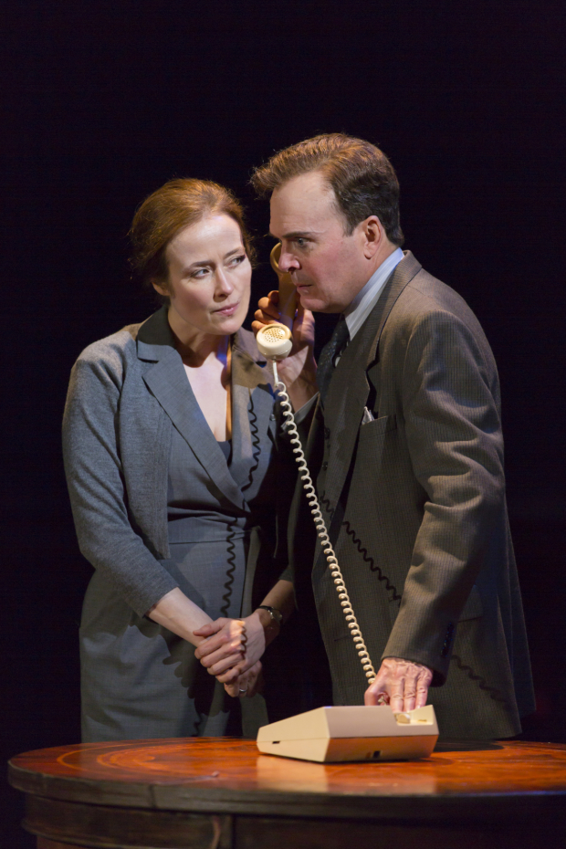 Jennifer Ehle and Jefferson Mays in Oslo at the Vivian Beaumont Theater.