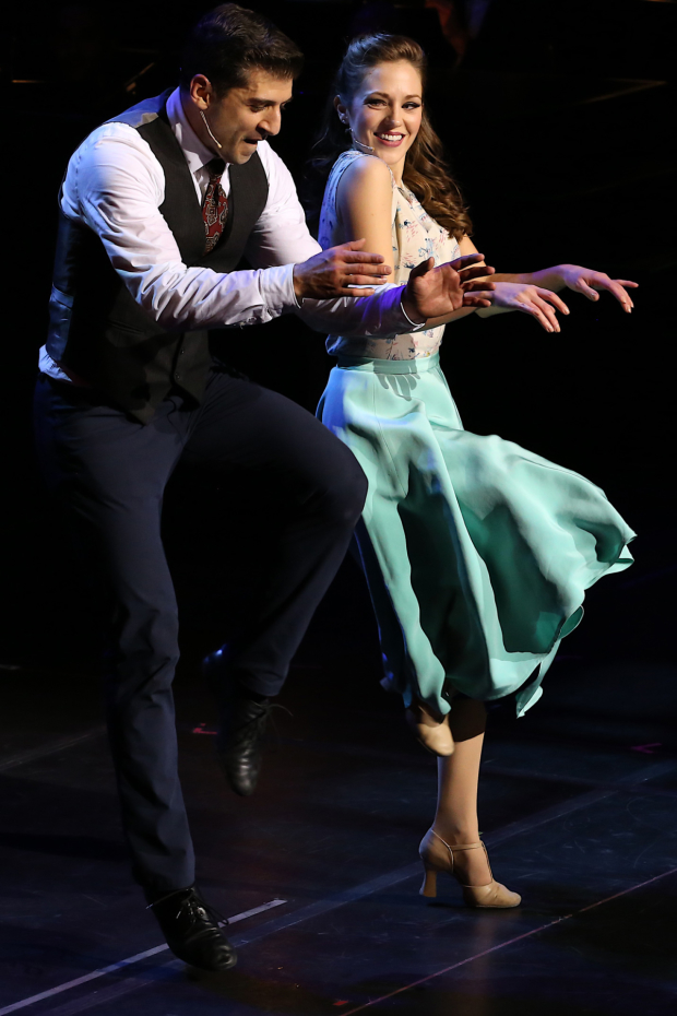 Tony Yazbeck and Laura Osnes in Manhattan Concert Productions' Crazy for You.