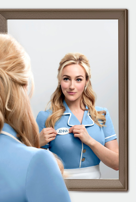 Betsy Wolfe in a promotional image for Waitress.