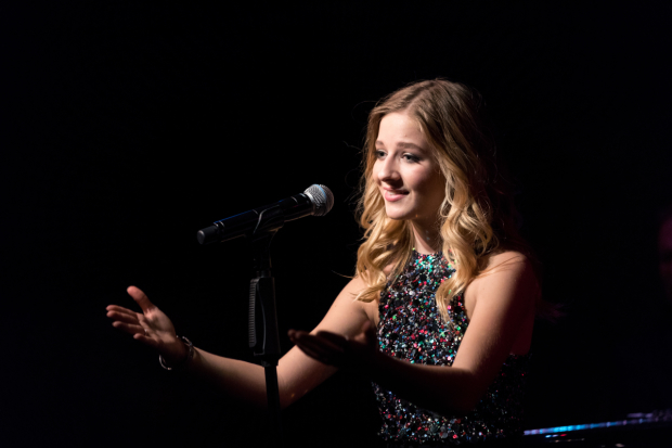 Jackie Evancho sings a program of Italian opera, pop, and Broadway standards at the Café Carlyle.