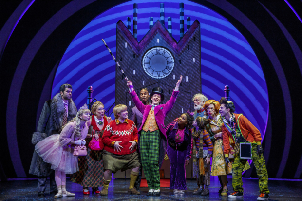 Charlie and the Chocolate Factory, directed by Jack O'Brien, plays at the Lunt-Fontanne Theatre.