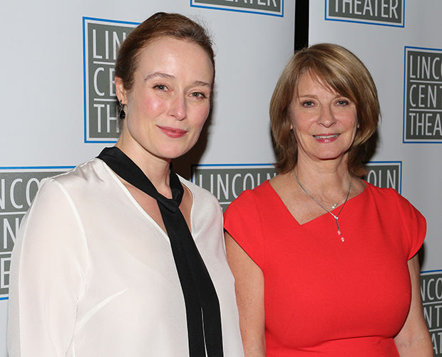 Oslo star Jennifer Ehle takes a photo with her character's real-life counterpart, Norwegian diplomat Mona Juul.