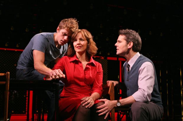 Aaron Tveit, Alice Riple, and J. Robert Spencer in Next to Normal.