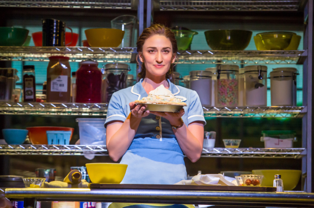 Sara Bareilles stars in Waitress, directed by Diane Paulus, at the Brooks Atkinson Theatre.