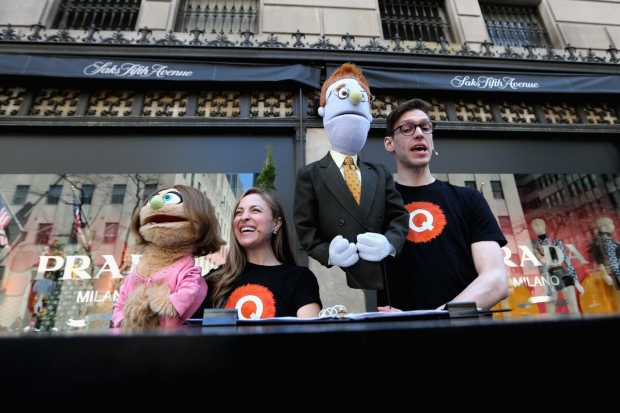 Dana Steingold and Ben Durocher host Saks Fifth Avenue Spring Fete at the New York Easter Parade.