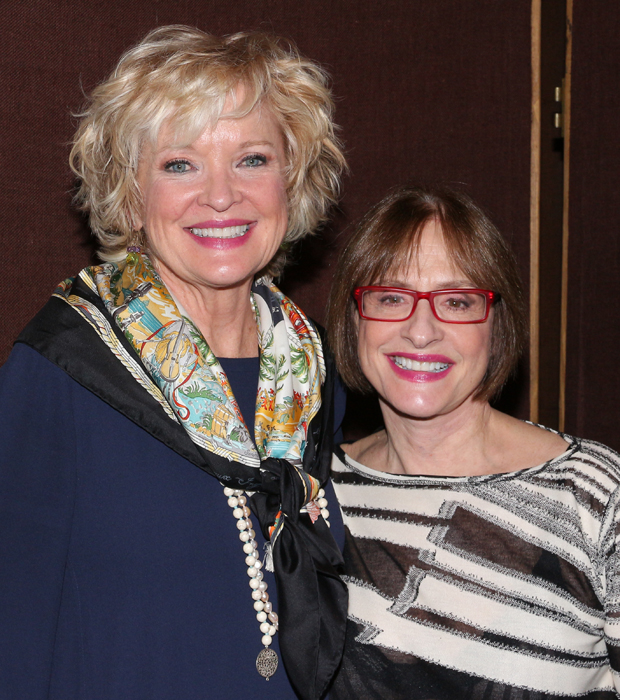 Christine Ebersole and Patti LuPone smile for the cameras.