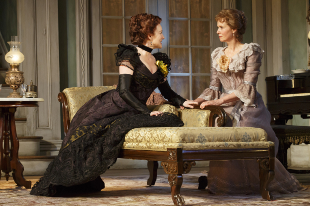 Laura Linney and Cynthia Nixon star in the Broadway revival of Lillian Hellman's The Little Foxes, directed by Daniel Sullivan, at Manhattan Theatre Club's Samuel J. Friedman Theatre.