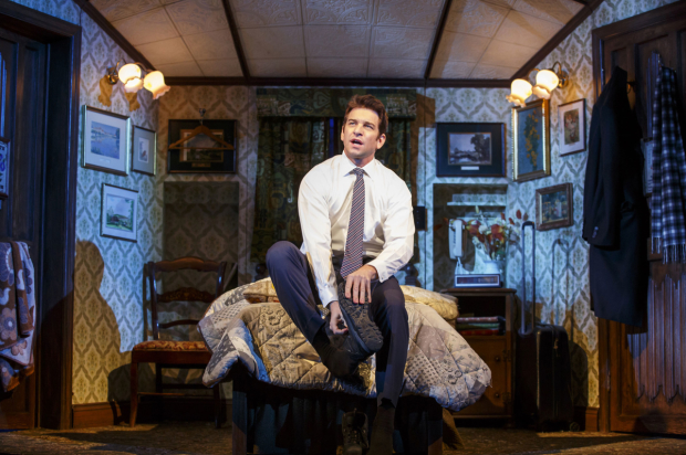 Andy Karl as Phil Connors in the new Broadway musical Groundhog Day.