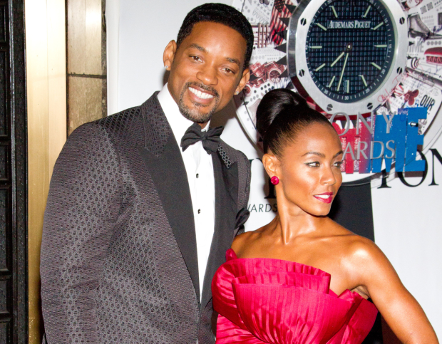 Will Smith, who is in talks to take on the role of the genie in Disney's live-action Aladdin with Jada Pinkett Smith.