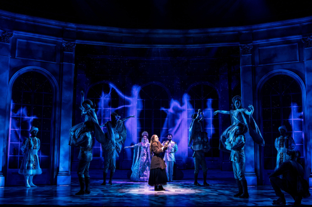 Christy Altomare (center) stars in Anastasia, directed by Darko Tresnjak, at the Broadhurst Theatre.