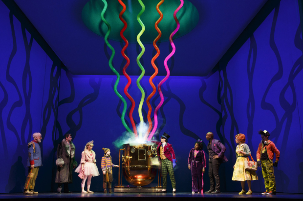 A scene from Charlie and the Chocolate Factory at the Lunt Fontane Theatre.