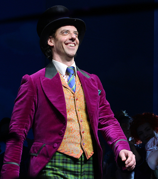 Christian Borle takes his bow as Charlie and the Chocolate Factory opens on Broadway.