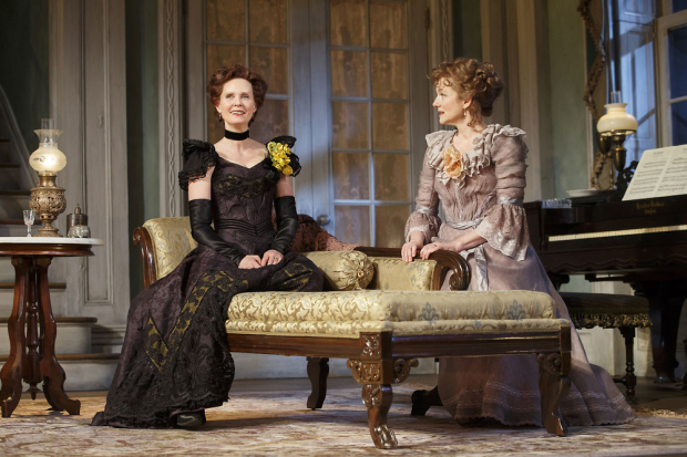 Laura Linney and Cynthia Nixon in MTC's Broadway revival of The Little Foxes.