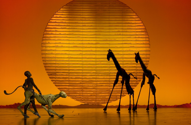 A scene from The Lion King on Broadway.