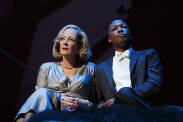 Allison Janney and Corey Hawkins costar as Ouisa and Paul in Trip Cullman's production of Six Degrees of Separation.