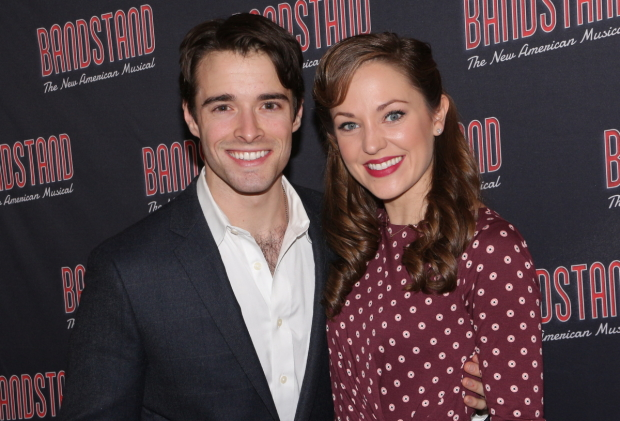 Bandstand costars Corey Cott and Laura Osnes join the fifth annual Broadway Bakes, benefiting Broadway Cares/Equity Fights AIDS.
