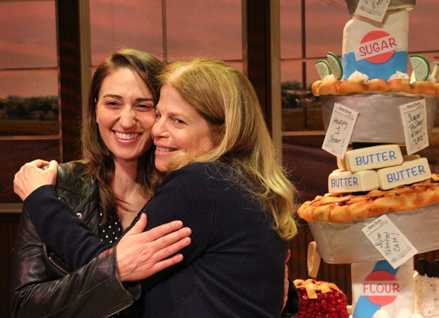 Sara Bareilles and Jessie Nelson hug it out.