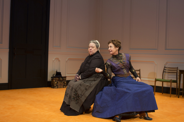 Jayne Houdyshell plays Anne Marie, and Laurie Metcalf plays Nora in A Doll's House, Part 2.