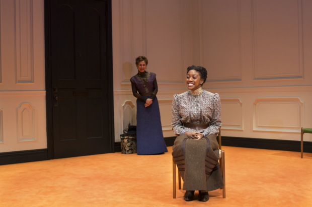 Nora (Laurie Metcalf) listens as her estranged daughter, Emmy (Condola Rashad) tells her about her aspiration to become a wife in a Doll's House, Part 2.