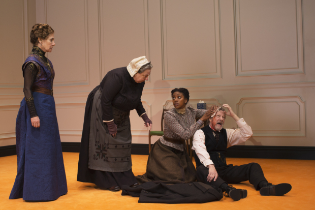 Laurie Metcalf, Jayne Houdyshell, Condola Rashad and Chris Cooper in a scene from A Doll's House, Part 2.