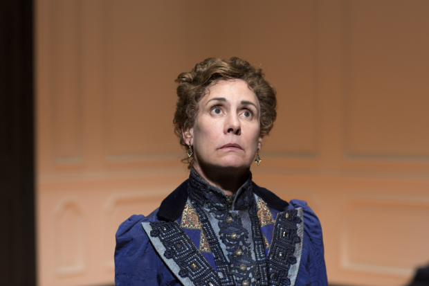 Laurie Metcalf as Nora in Lucas Hnath's A Doll's House, Part 2.