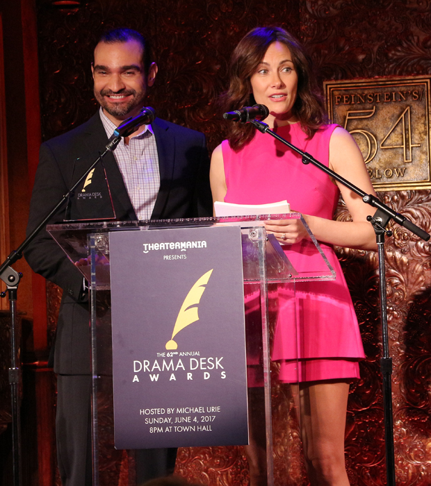 Javier Muñoz and Laura Benanti announce the 2017 Drama Desk Award nominations.