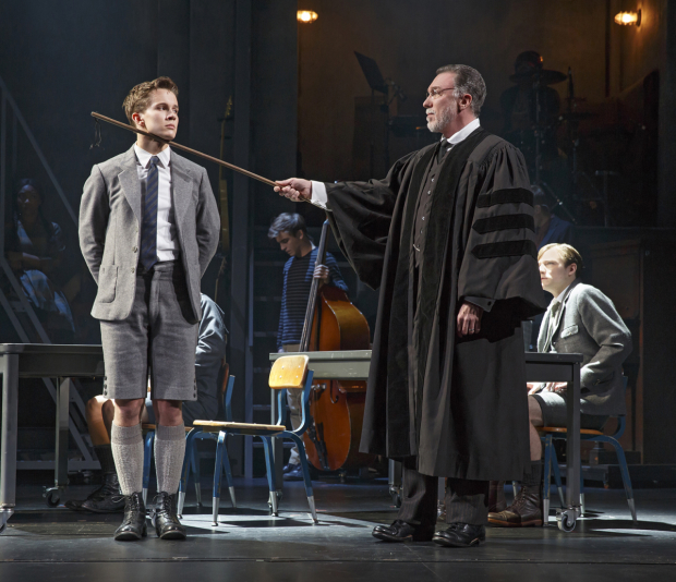 Austin P. McKenzie and Patrick Page starred in the Broadway revival of Spring Awakening. This photo is not scratch and sniff, but it should be.