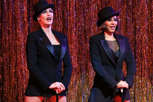 Amra-Faye Wright and Mel B perform the finale of Chicago at a recent performance at the Ambassador Theatre.