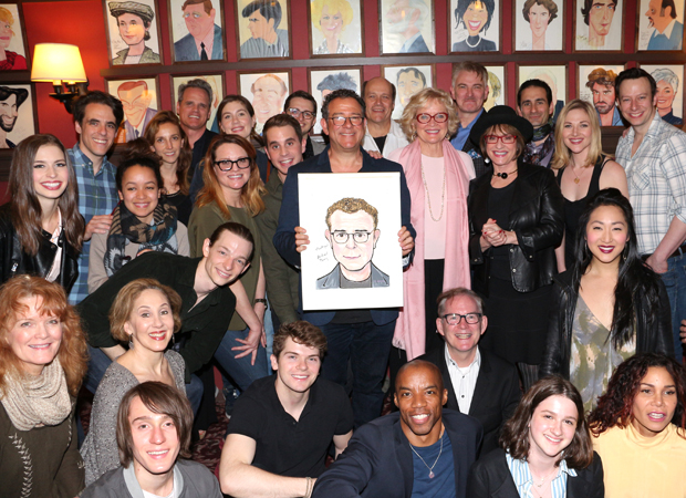 Cast members from War Paint, Dear Evan Hansen, and Rent join Michael Greif for a photo.
