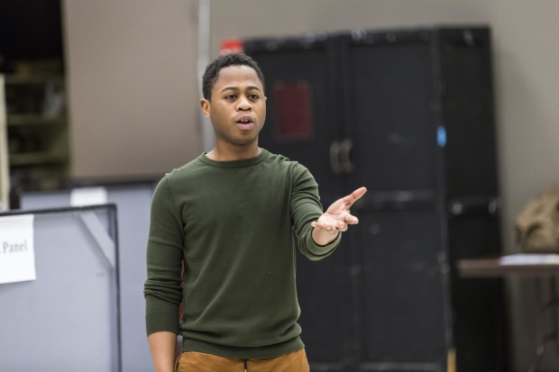 Caption: Daniel Kyri makes his Goodman Theatre debut as Yarkpai in Objects in the Mirror, directed by Chuck Smith.