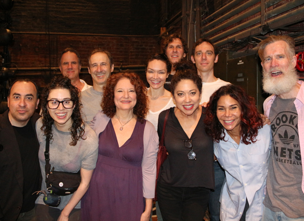 Daphne Rubin-Vega (second from right) with the cast of Indecent.