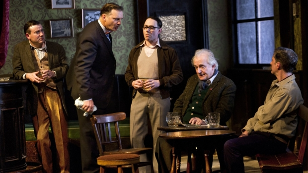 A scene from the London production of Martin McDonagh's new drama Hangmen.