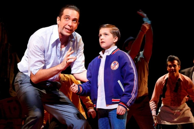 """Shut your trap or / Get in the crapper"" is a lyric Nick Cordero sings in A Bronx Tale, a new Broadway musical nominated for no Tony Awards."