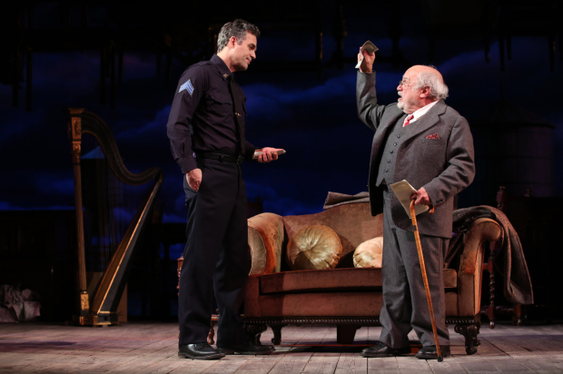 Danny DeVito, seen here in a scene with Mark Ruffalo, is a 2017 Tony Award nominee for his Broadway-debut performance in Arthur Miller's The Price.