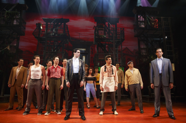 A scene from Broadway's A Bronx Tale.