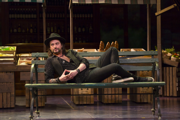 Constantine Maroulis stars in The Most Beautiful Room in New York, directed by Gordon Edelstein, at Long Wharf Theatre.