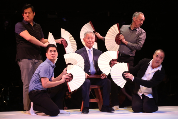 Classic Stage Company's Pacific Overtures, directed by John Doyle, features Kelvin Moon Loh, Austin Ku, George Takei, Marc Oka, and Thom Sesma.