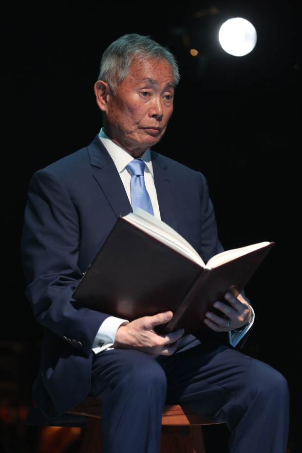 George Takei stars as The Reciter.