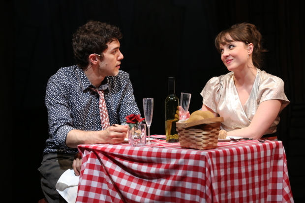 David Spadora and Morgan Cowling star in Marry Harry, directed by Bill Castellino, presented by the York Theatre Company.