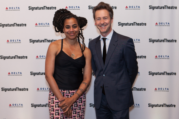 Suzan Lori-Parks was honored at Signature Theatre's gala, hosted by Edward Norton.